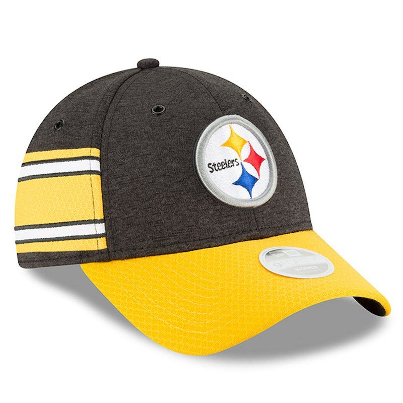 56c1d8f6d Pittsburgh Steelers New Era Women s 2018 NFL Sideline Home 9FORTY Adjustable  Hat – Black Gold