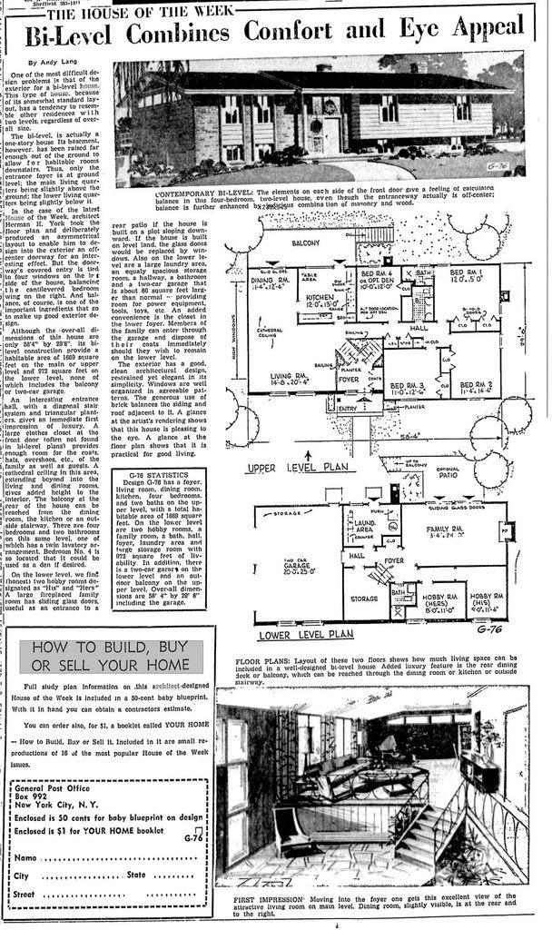 G-76 - Architect: Herman York | Times, Architects and Vintage house ...