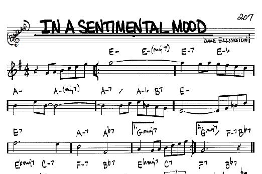 In A Sentimental Mood Sheet Music Ibovnathandedecker