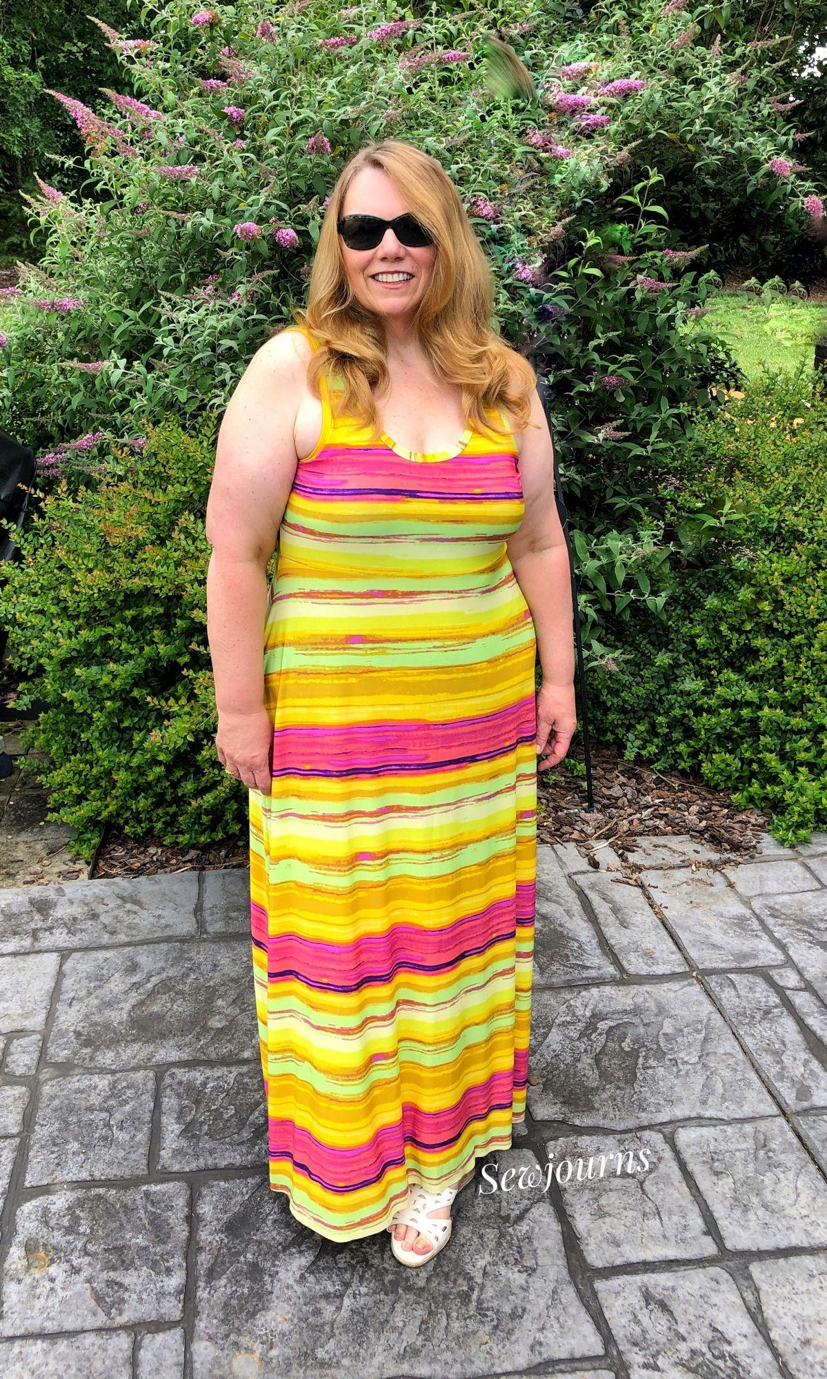 Summer Basics Tank Dress Love Notions Sewing Patterns Maxi Tank Dress Dresses Knee Length Dress [ 2000 x 1199 Pixel ]