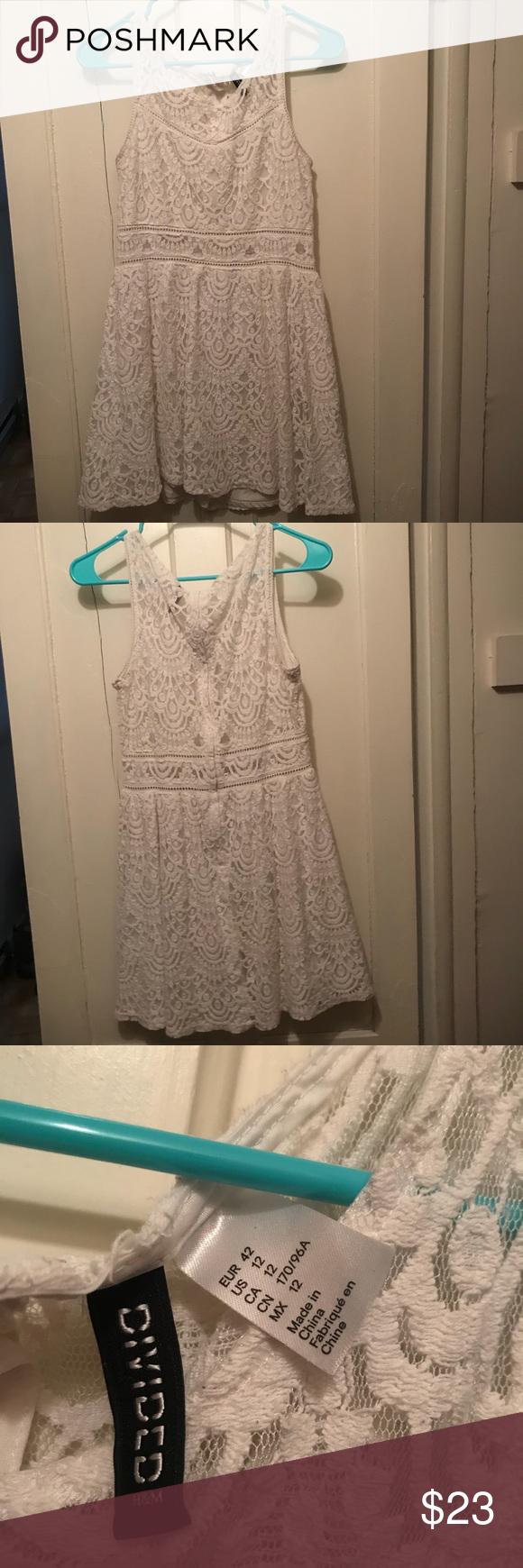 H&m lace dress white  HuM white lace dress  White lace dresses Nice dresses and White lace