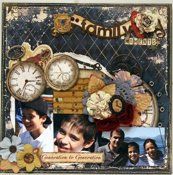 FAMILY MOMENTS ***Bo Bunny - Timepiece Collection