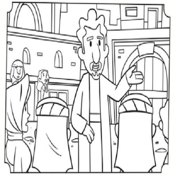 Paul And Silas In Jail Coloring Page Bible Coloring Pages Paul