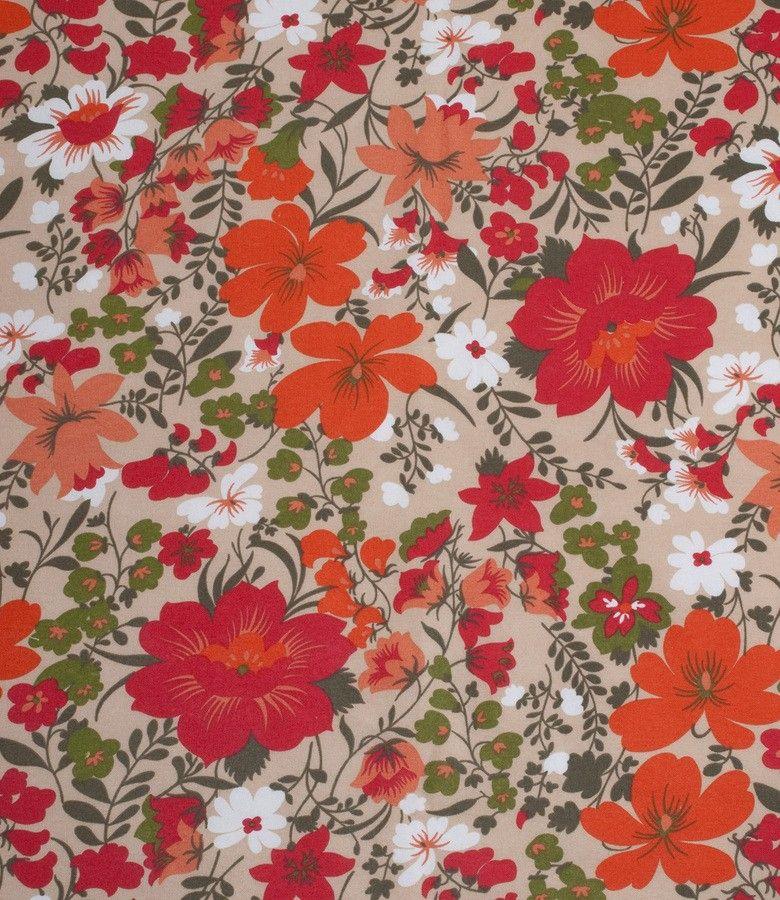 Tela provenzal estampado con flores para tapicer a y for Telas para sillones