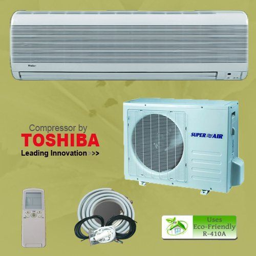 18000 1 5 Ton Btu Ductless Mini Split Air Conditioner Unit Ac A C System Heat Pump Free Installation Kit Air Conditioner Units Ductless Mini Split Heat Pump