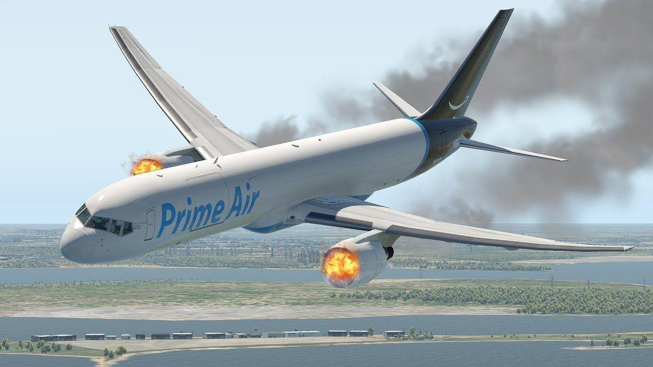 AMAZON PRIME AIR 767 FREIGHTER CRASH NEAR HOUSTON X