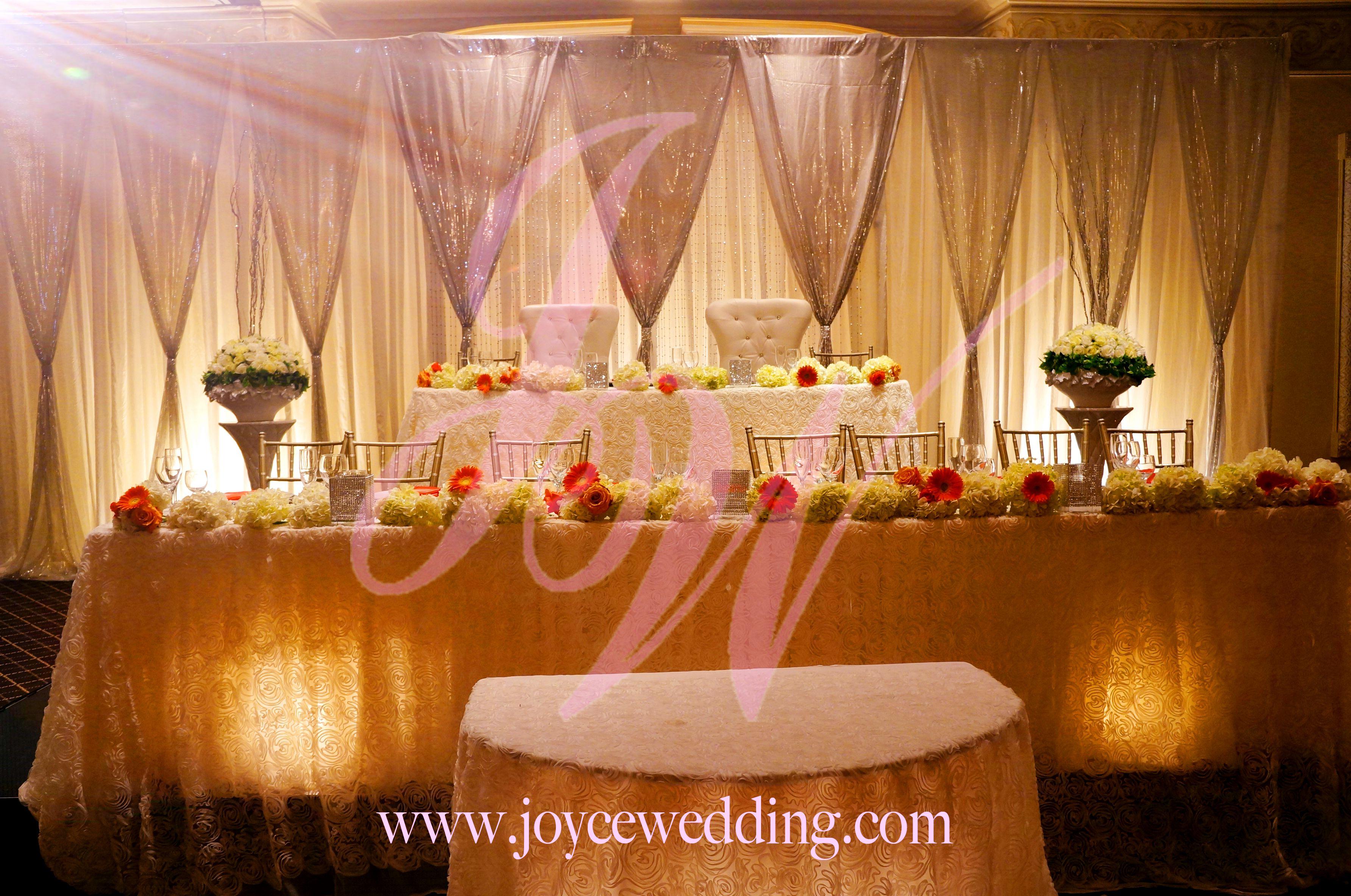 Wedding hall decoration images  Wedding Reception Banquet u Silver Decoration  Silver