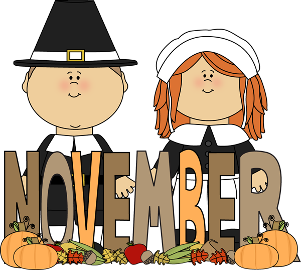 Free Month Clip Art | Month of November Pilgrims Clip Art Image ...