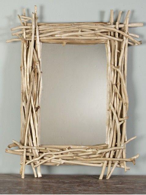 Diy Wood Sticks Mirror Twig Mirror Wood Sticks Wood Diy