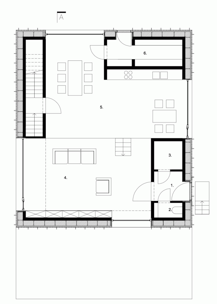 Gallery Of Zero Energy House Lokeren Blaf Architecten 13 Zero Energy House Lokeren Sloping Lot House Plan
