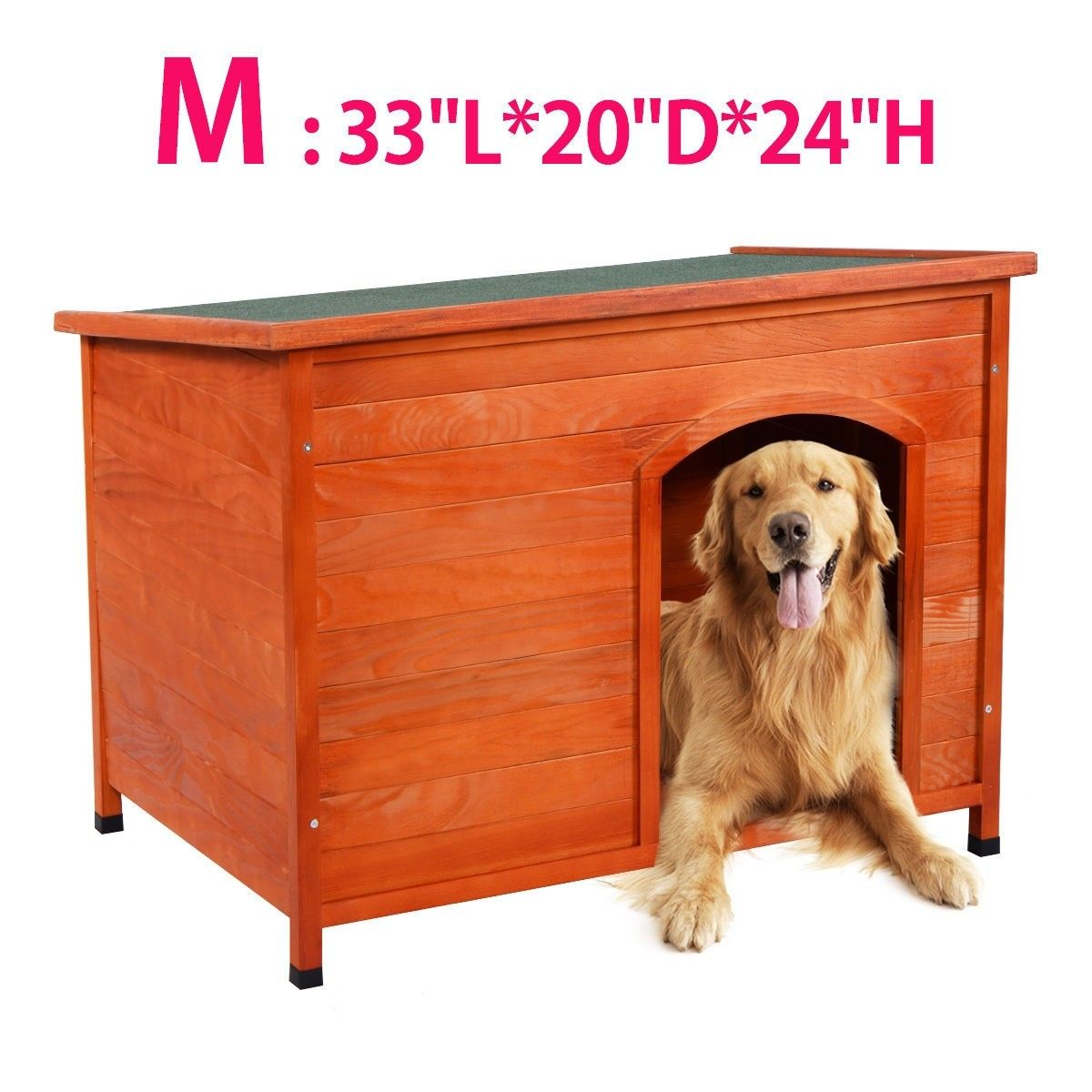 Outdoor Wood Weather Resistant Home Ground Dog House With Images Wood Dog House Dog House Outdoor Cat Shelter