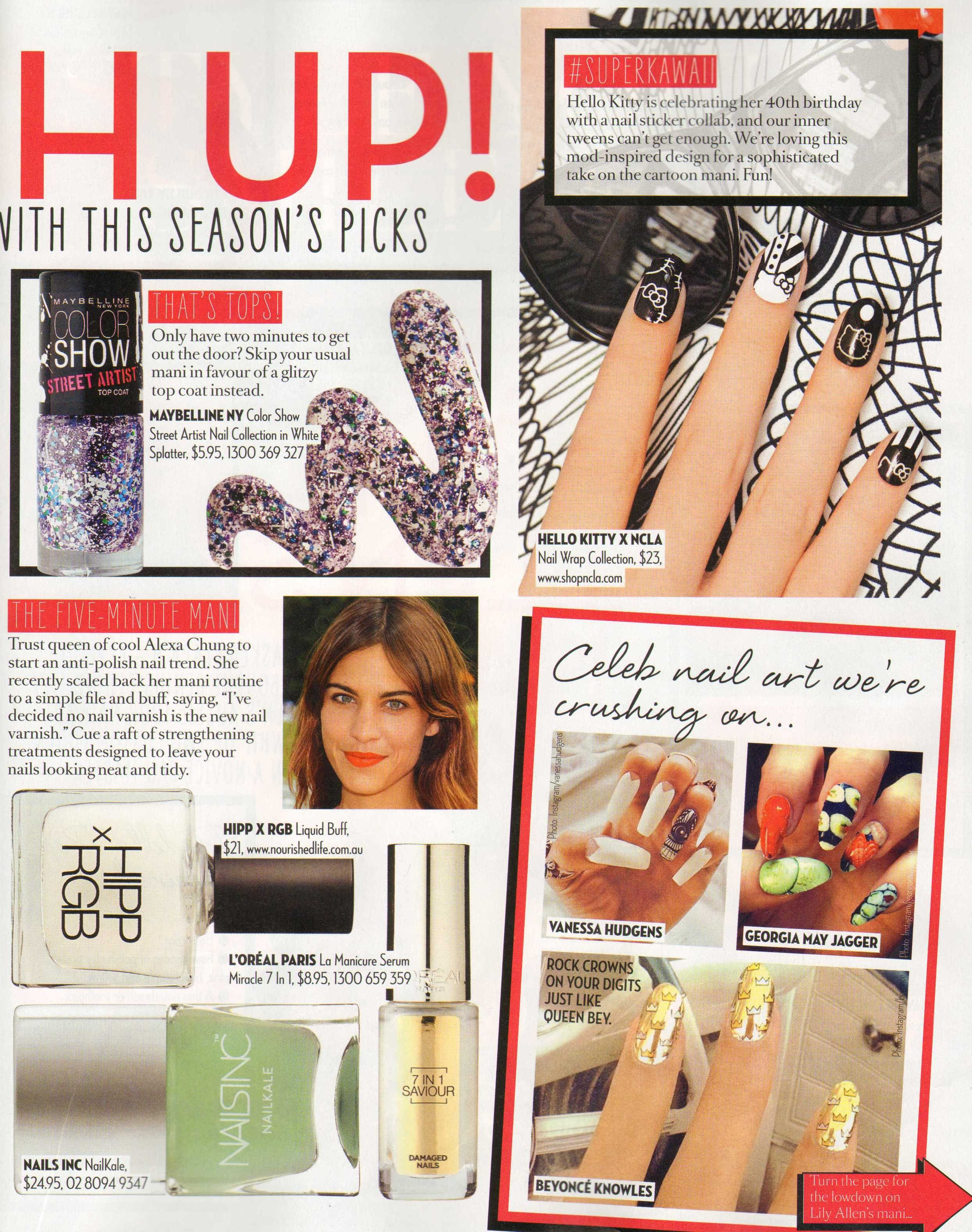 Famous Magazine chooses our RGB nail polish as one of the best nail polishes to make your nails look healthy, tidy and buff. Shop now at nourishedlife.com.au