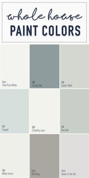 Paint colors for a whole home color palette with calming neutral paint colors fr images
