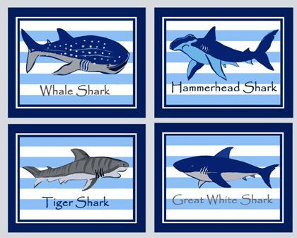 Shark Art Prints Shark Bathroom Art Madras By Theprincessandpea