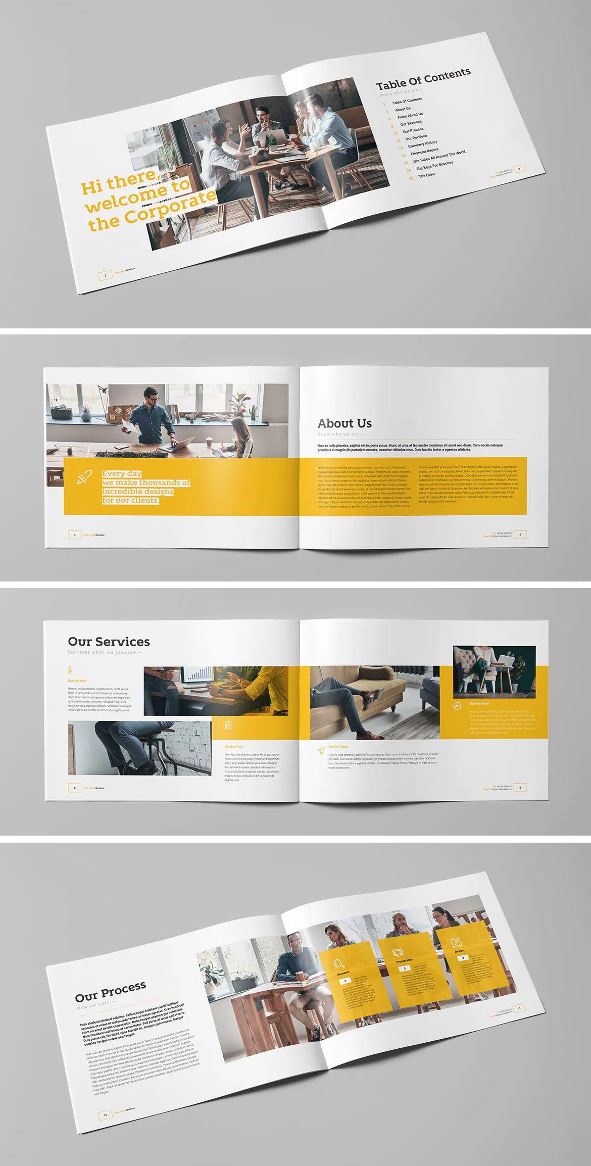 Business Landscape Brochure Template Indesign Indd 24 Pages Download Brochure Business Brochure Brochure Template