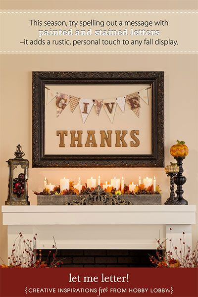 Hobby Lobby Project - Let Me Letter - Thanksgiving, Wooden Letters - hobby lobby halloween decor