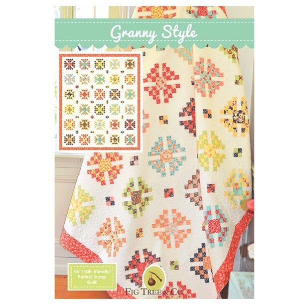 And the pattern itself. :-) making me happy today. GRANNY STYLE. As for the patterns themselves.... Well we might have to wait another day or two for the PDF versions and the paper will be ready after market as promised. I will let you guys know the moment they are up in the site and the special deal we will have going with them! #figtreequilts #figtreeandco #showmethemoda #modagoestomarket #chestnutstreetfabric
