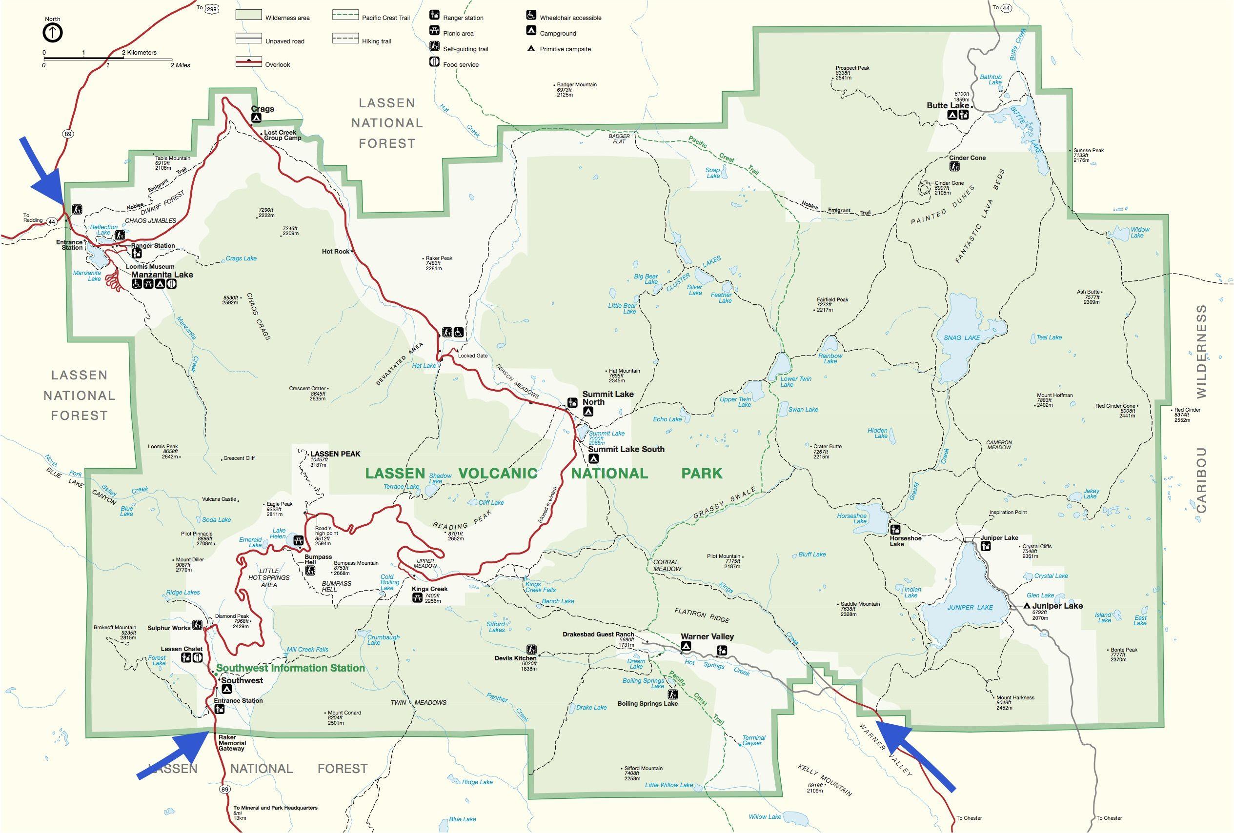 Lassen Volcanic National Park Kids Camping Warner Valley - Volcanoes in usa map