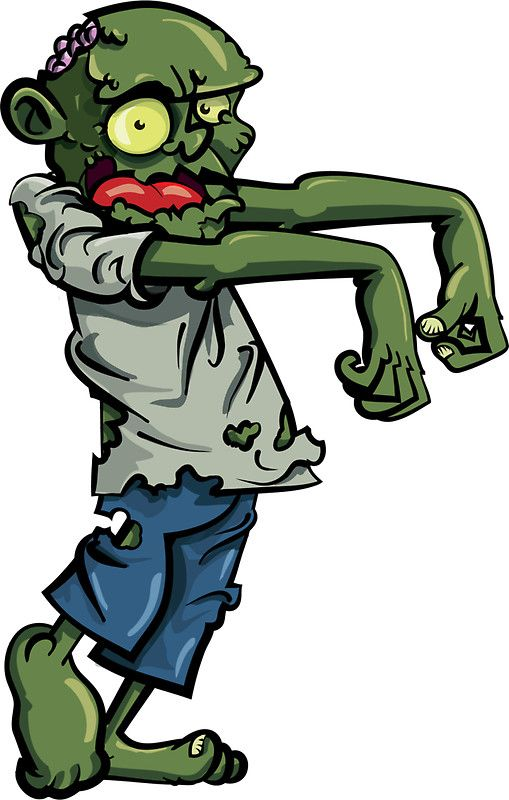Walking Zombie Stickers In 2019 Zombie Cartoon Cartoon