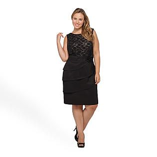 Connected Apparel Womens Plus Sleeveless Lace Party Dress Sears 4799