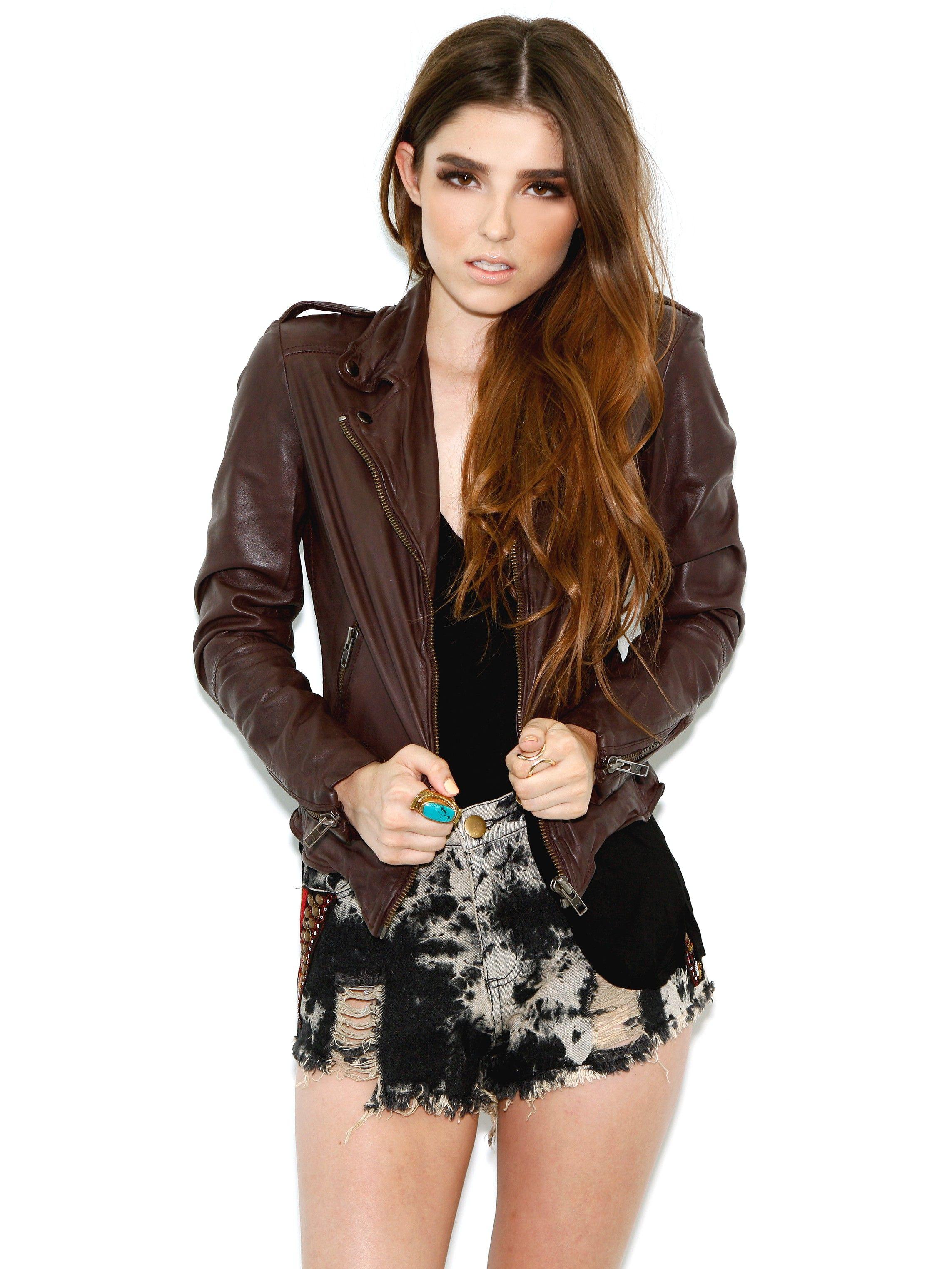 Muubaa Sabi Fitted Biker Jacket In Maroon Fitted Biker Jacket Fashion Muubaa Leather Jacket [ 3048 x 2286 Pixel ]