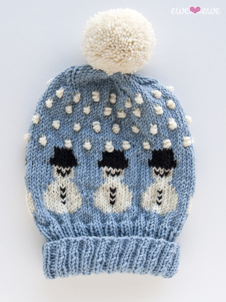 Ewe Ewe Snowy The Snowman Hat Knitting Pattern Pdf Hat Knitting