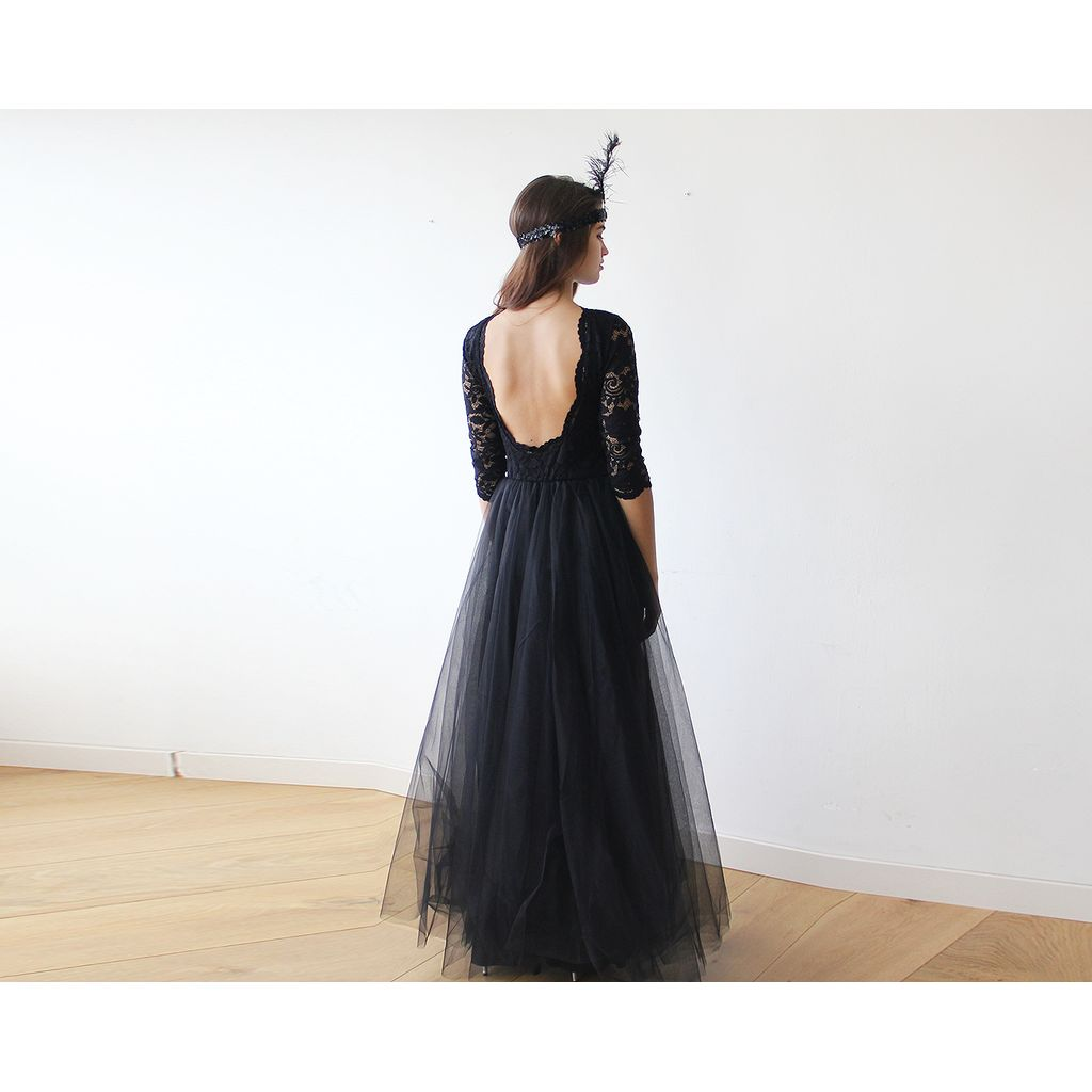 Black tulle and lace maxi gown products pinterest maxi gowns