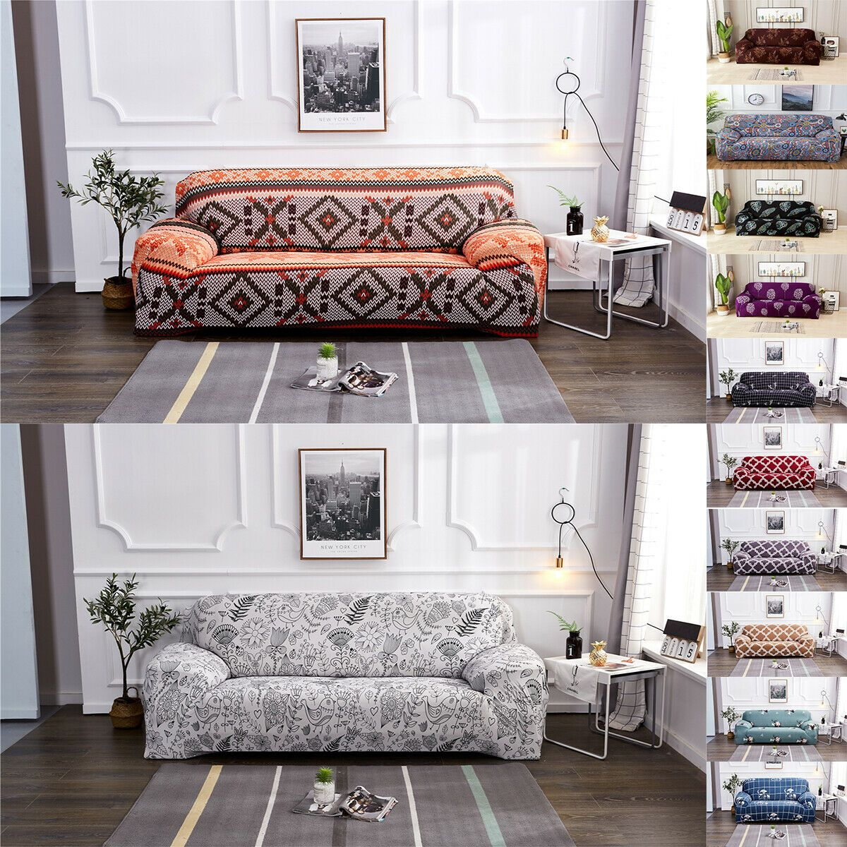 Us Easy Fit 1 2 3 4 Seater Floral Couch Stretch Sofa Cover Slipcovers Protector White Sofa Whitesofa In 2020 Fabric Sofa Cover Couch Covers Slipcovers Sofa Covers