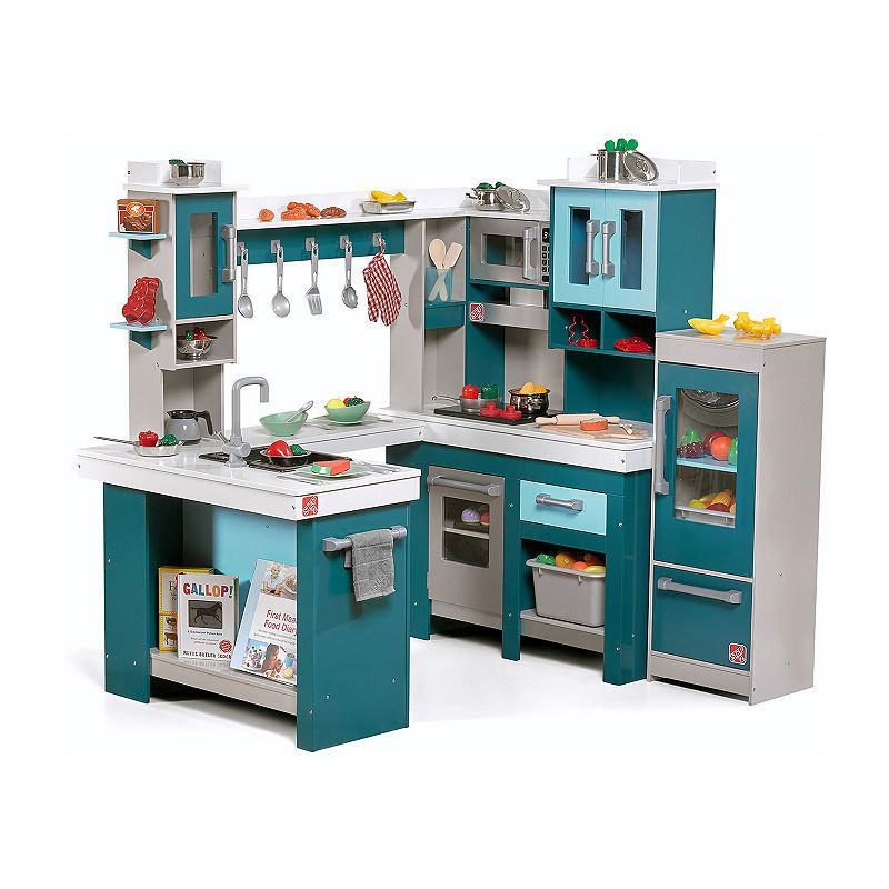 Step2 Grand Walk-In Wood Kitchen in 2019 | Play kitchen sets ...