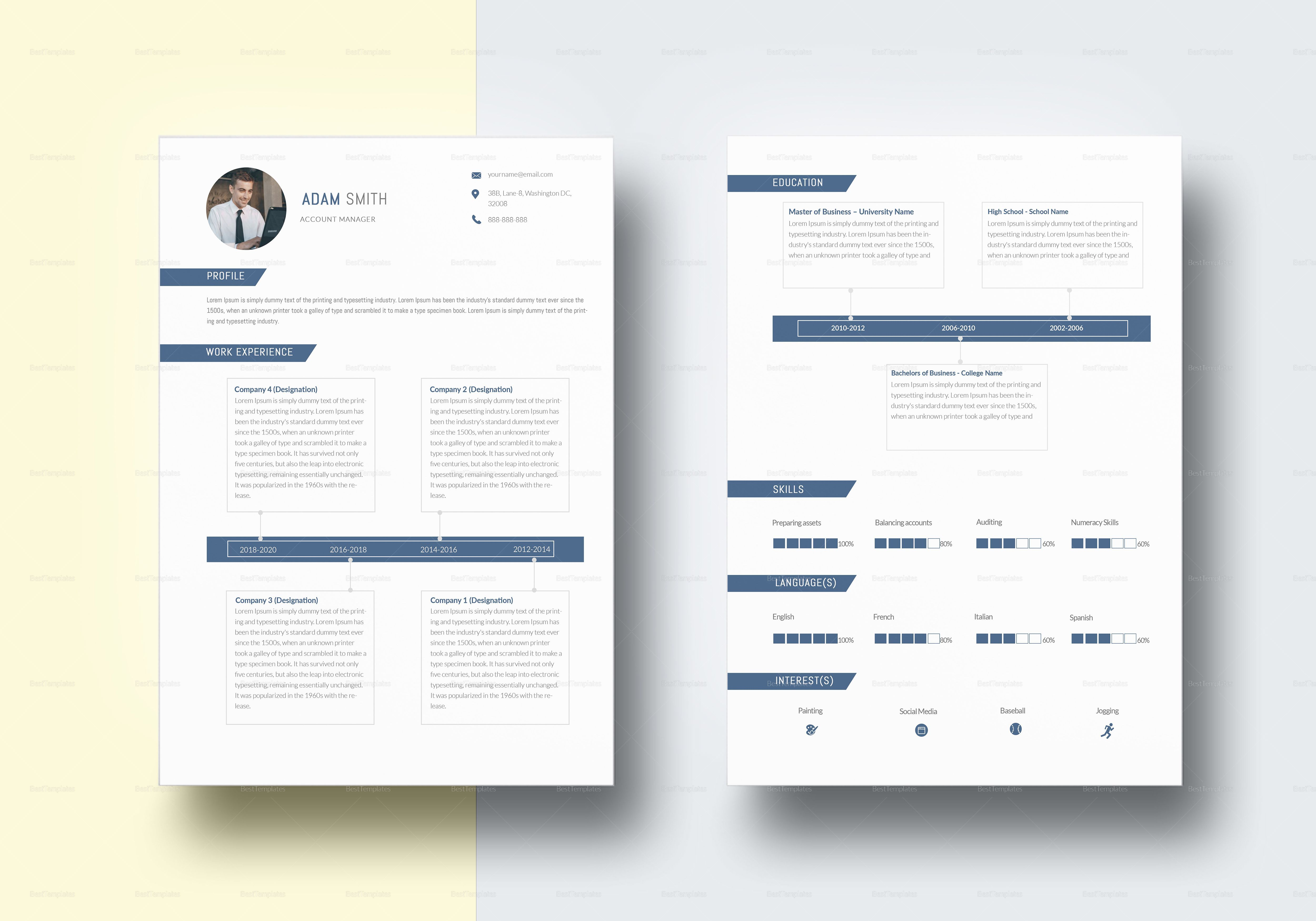 Professional Accounting Resume Template Resume Resume Examples
