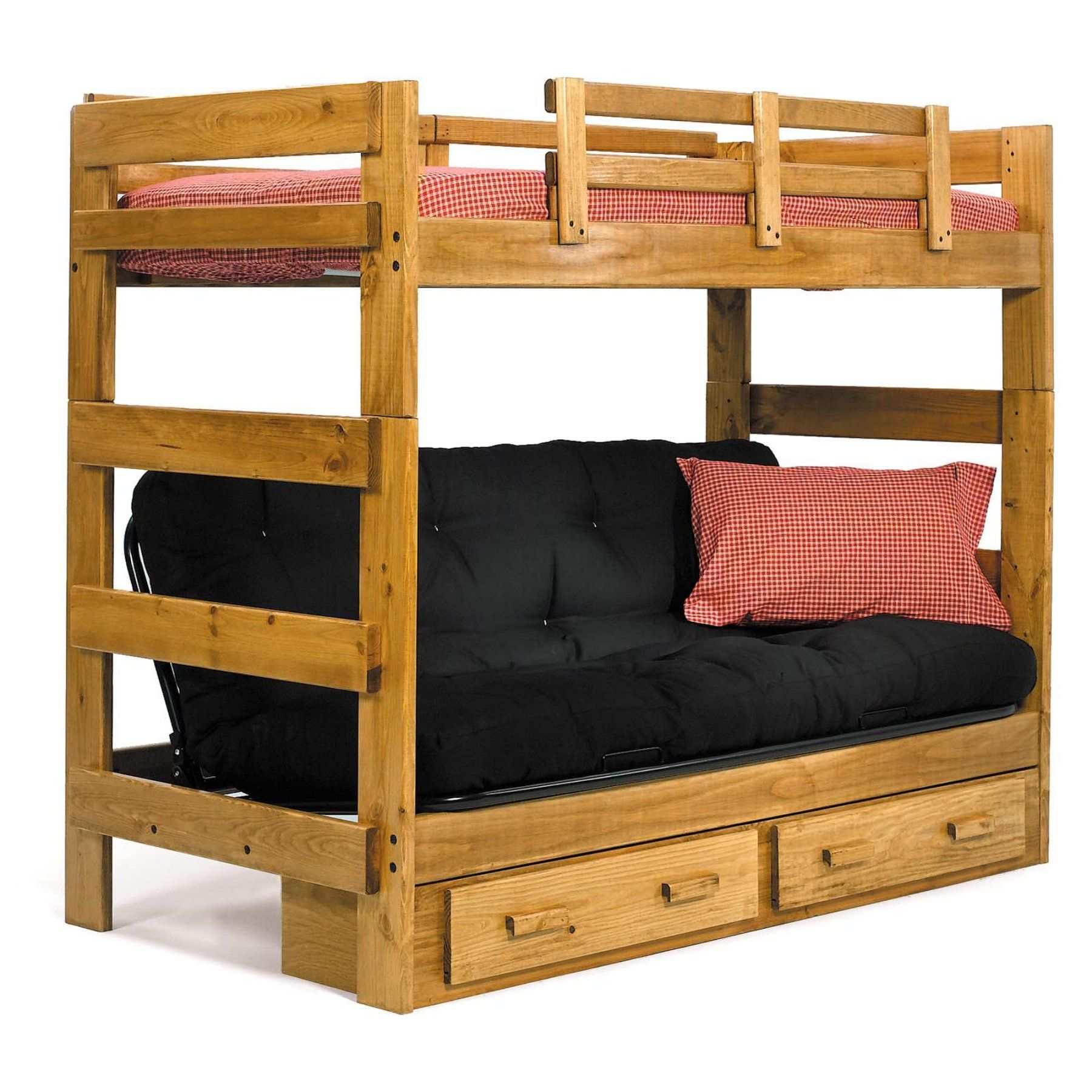 Lakeland mills twin over queen bunk bed amp reviews wayfair - Savannah Twin Over Futon Bunk Bed Wcm124
