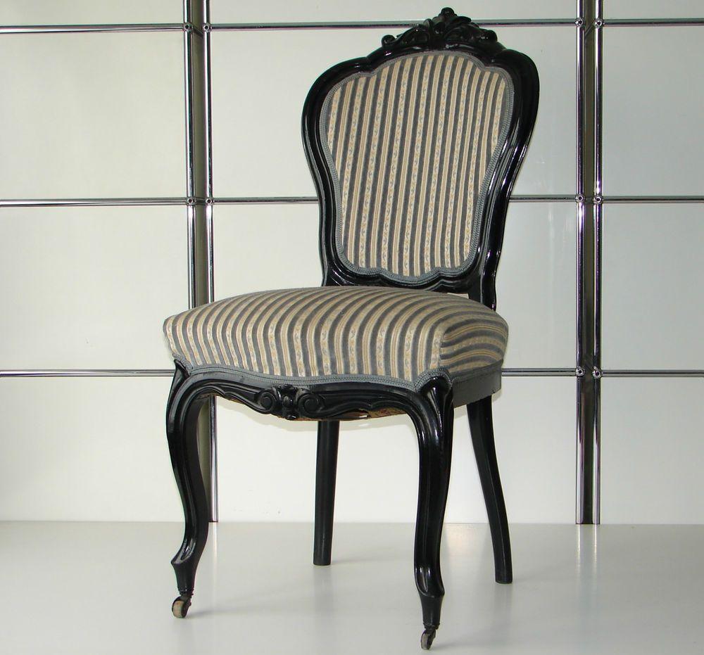 Antike Sitzgruppe Biedermeier Louis Philippe 5 Stuhle 1
