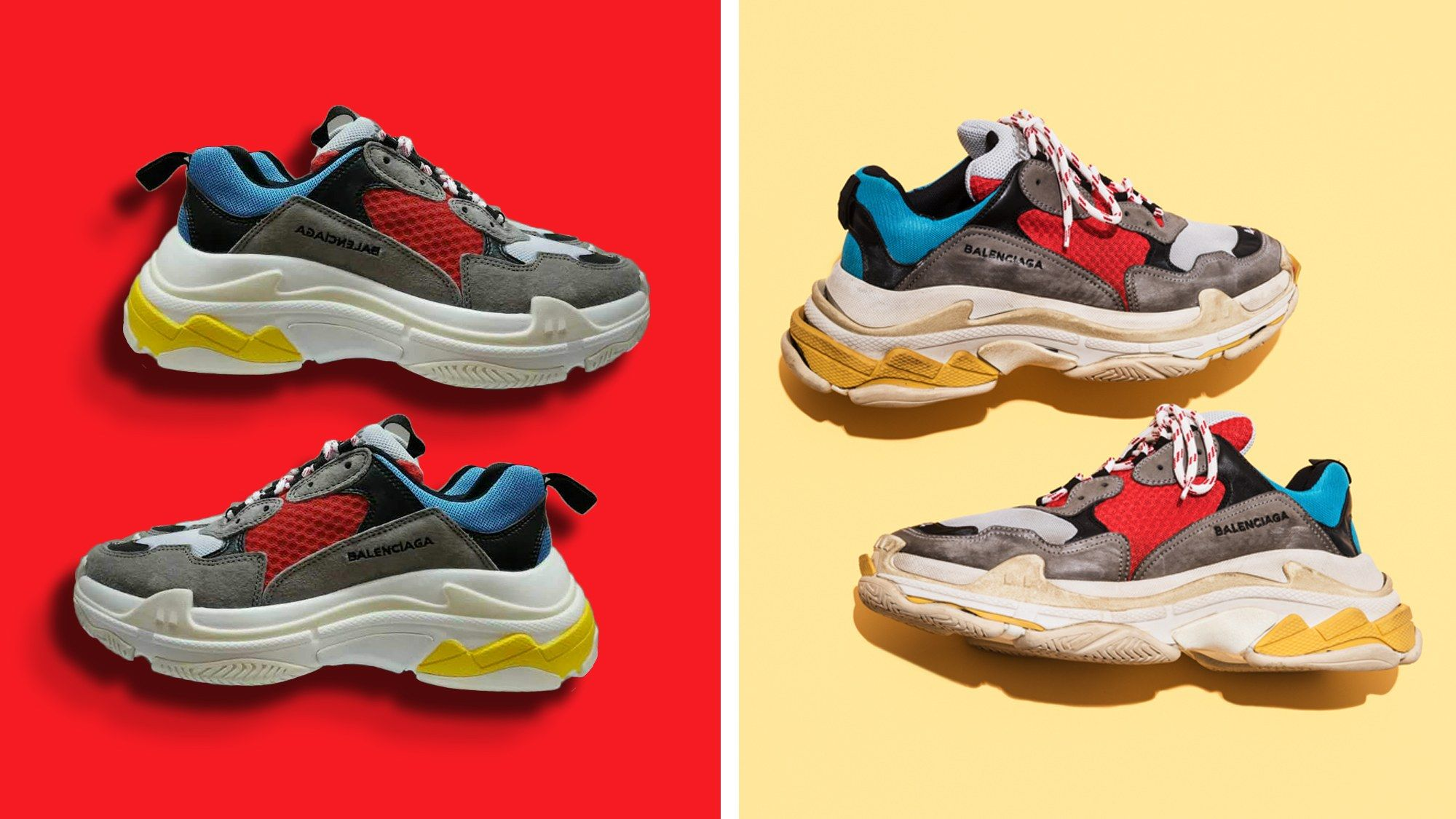 714178bf336 These Fake Balenciaga Sneakers Cost More Than Common Projects Balenciaga  Triple S sneakers are some of the hottest in the street right now