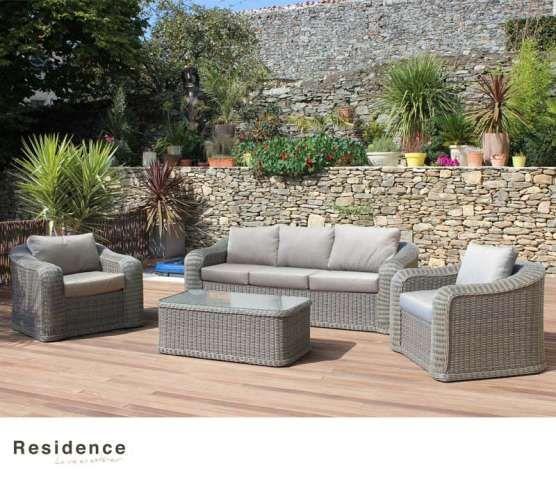 Salon Bas Durban En Aluminium Et Resine Tressee Mobilier Jardin Decoration Exterieur Salon De Jardin Carrefour