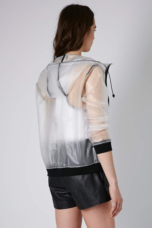 Topshop Misty Plastic Bomber Jacket in Transparent (clear ...