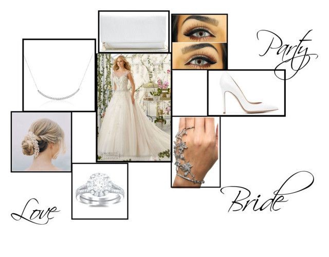"""""""Bride"""" by xmaureenbruinekoolx ❤ liked on Polyvore featuring GUESS and Gianvito Rossi"""