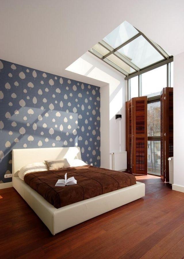 Farbgestaltung Schlafzimmer Ideen Braun Blau Ecru Kombinieren