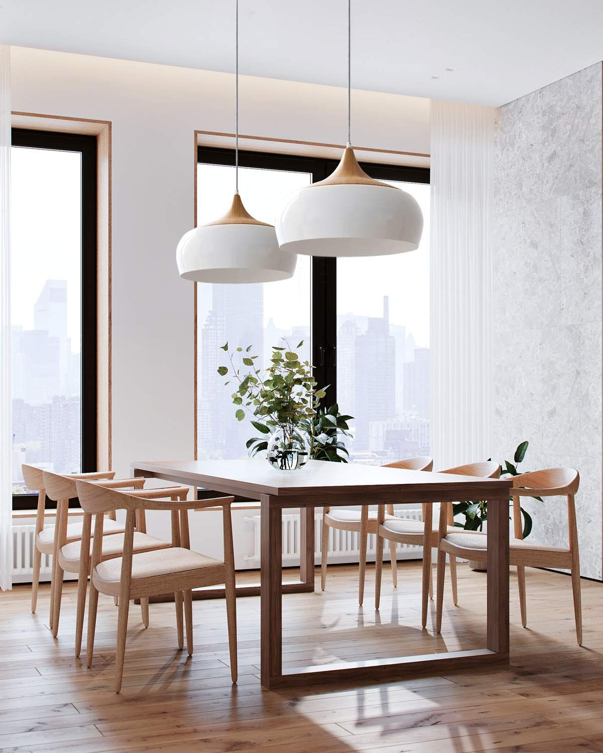 Amazonsmile Tomons Modern Style Wood Pattern Ceiling Lights Pendant Light With 8w Le Dining Room Pendant Ceiling Lamps Living Room Ceiling Lights Living Room