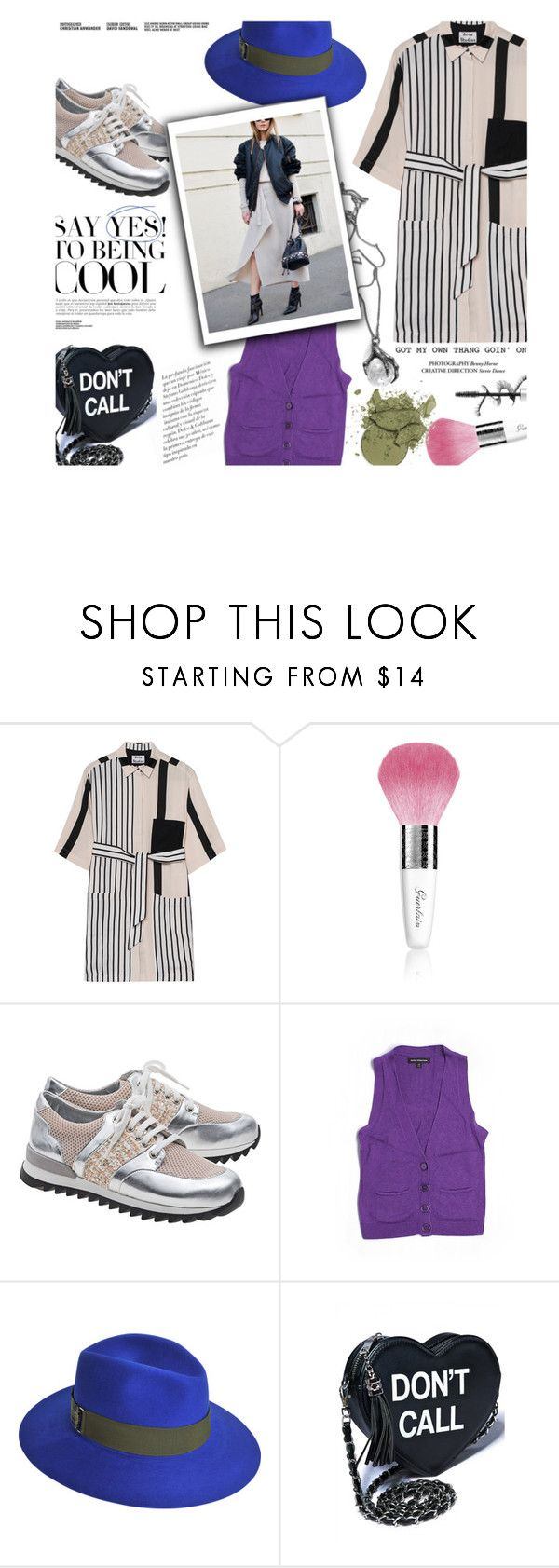 """Untitled #1427"" by zayngirl1dlove ❤ liked on Polyvore featuring Acne Studios, Guerlain, Express and Maison Michel"