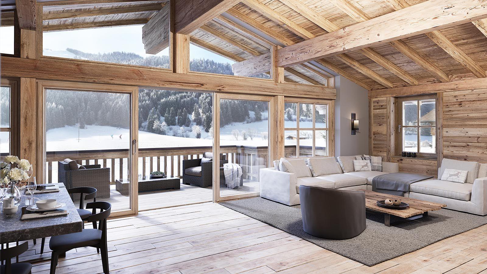 Kaiserliches Wohnen  Chalet Alpin  First Kitzbühel  Haus