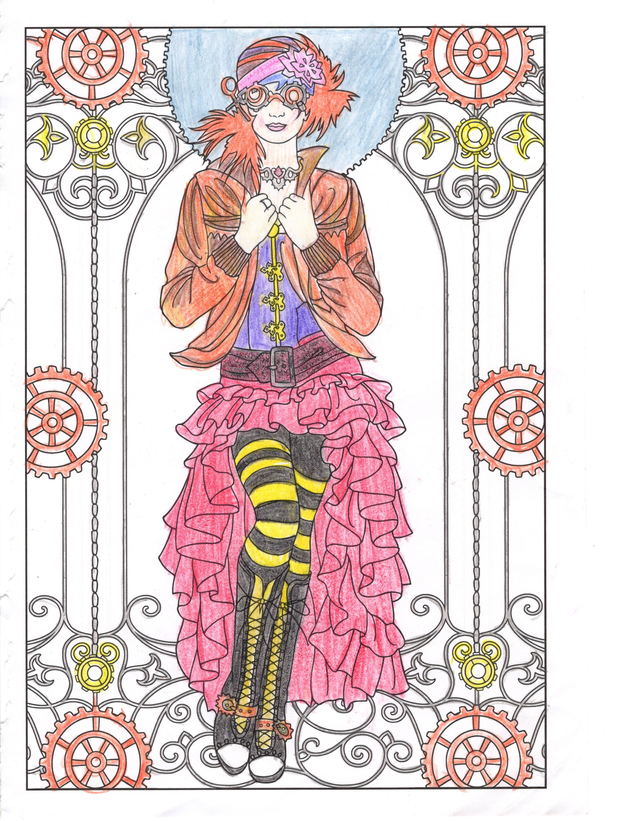 Steam Punk Coloring book | Coloring pages | Pinterest | Steam punk ...