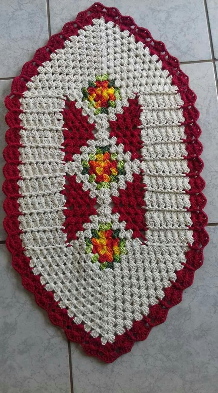 Tapetes | Tapetes em crochê | Pinterest | Deckchen, Tischdeko und Häkeln