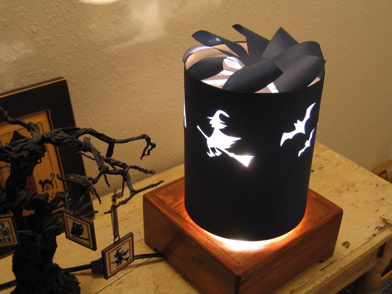 Spinning Lamp Shade Halloween Lamp Shade Diy Lamp Shade Lamp