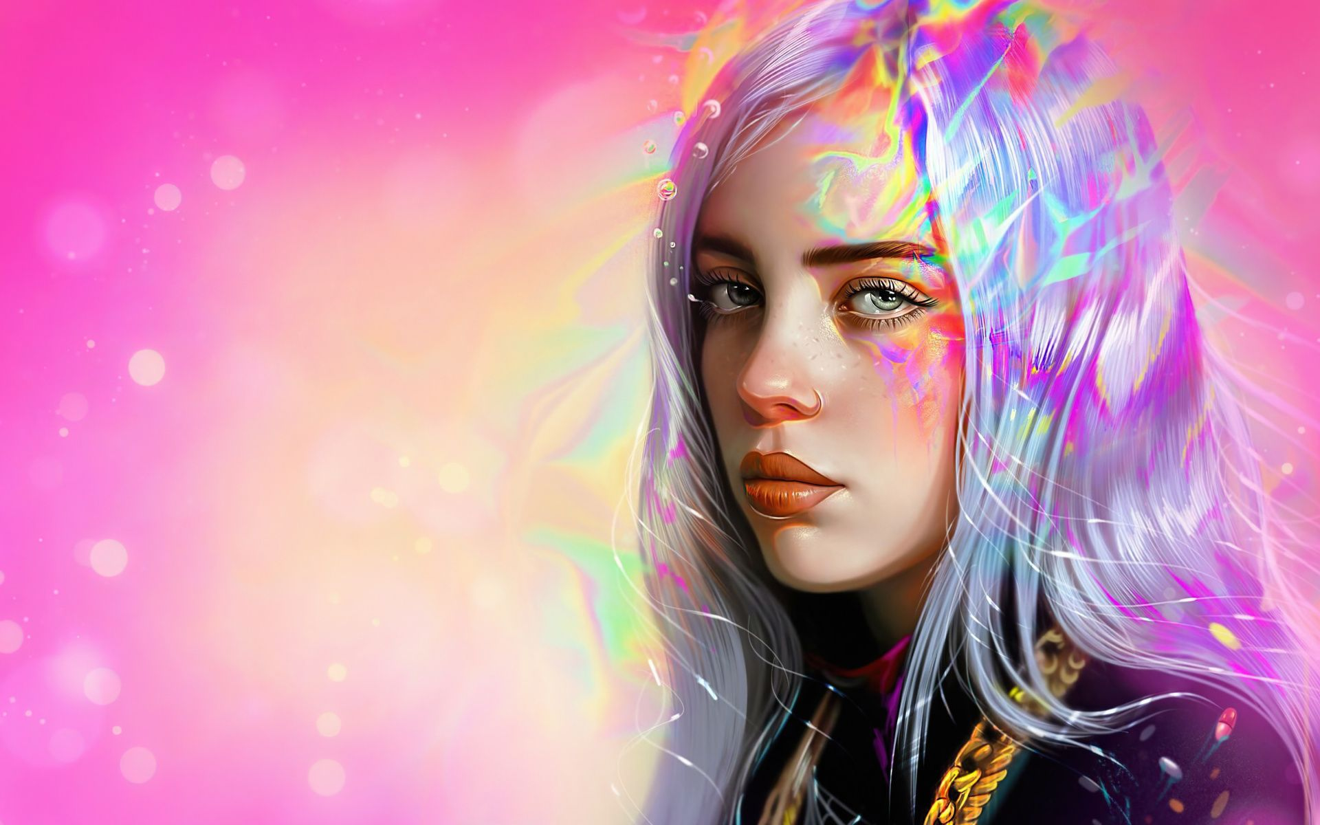 1920x1200 Fan Art Billie Eilish Wallpaper In 2020 Billie Eilish Eyes Wallpaper Singer Art