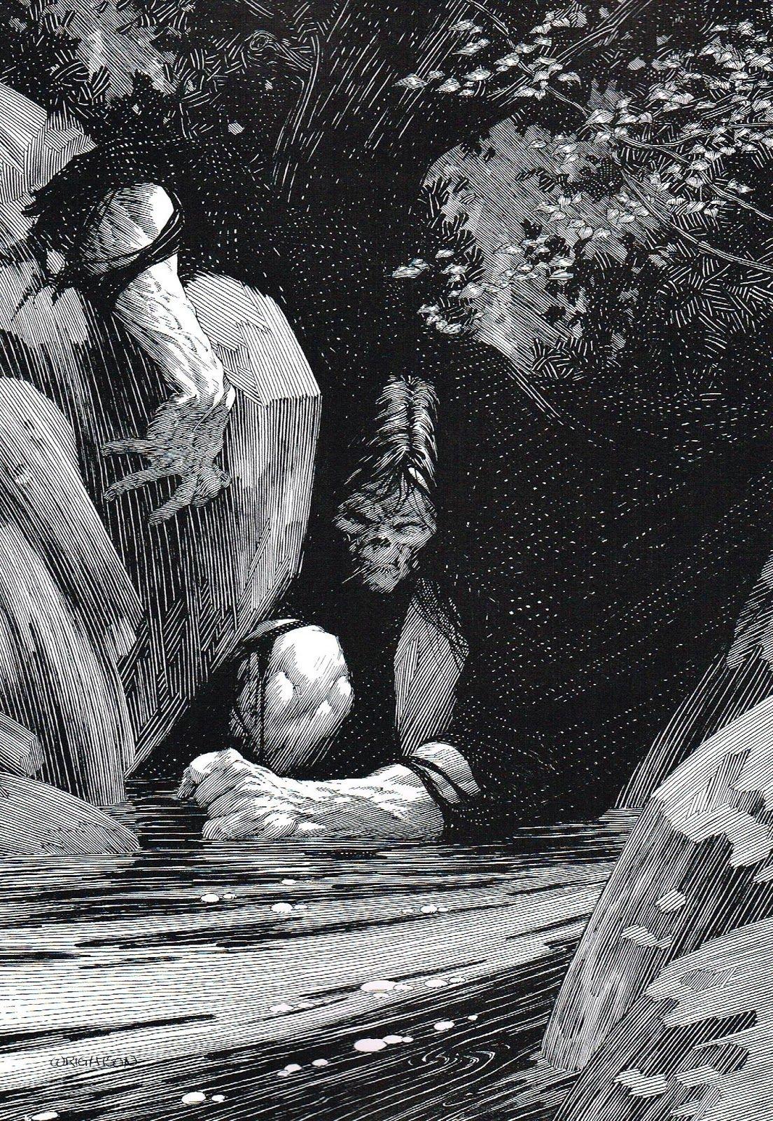 Frankensteins Monster From Mary Shelleys Frankenstein Illustrated By Bernie Wrightson