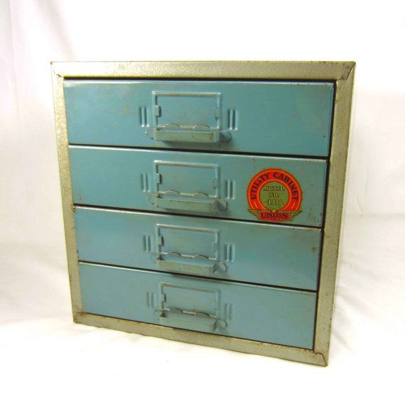 Perfect Metal Union Utility Cabinet With Divided Drawers By SkippiDiddle