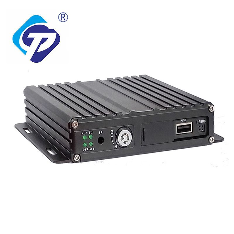 4CH Channel AHD Car Bus Truck Mobile DVR GPS Realtime Video Recorder w// Remote
