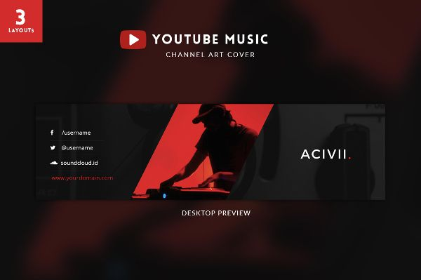 Youtube channel art template psd template pinterest channel youtube channel art template psd maxwellsz