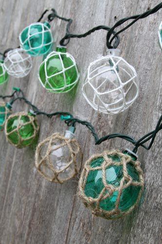 Glass float string lights Ocean Styles Beach Decor Home Sweet