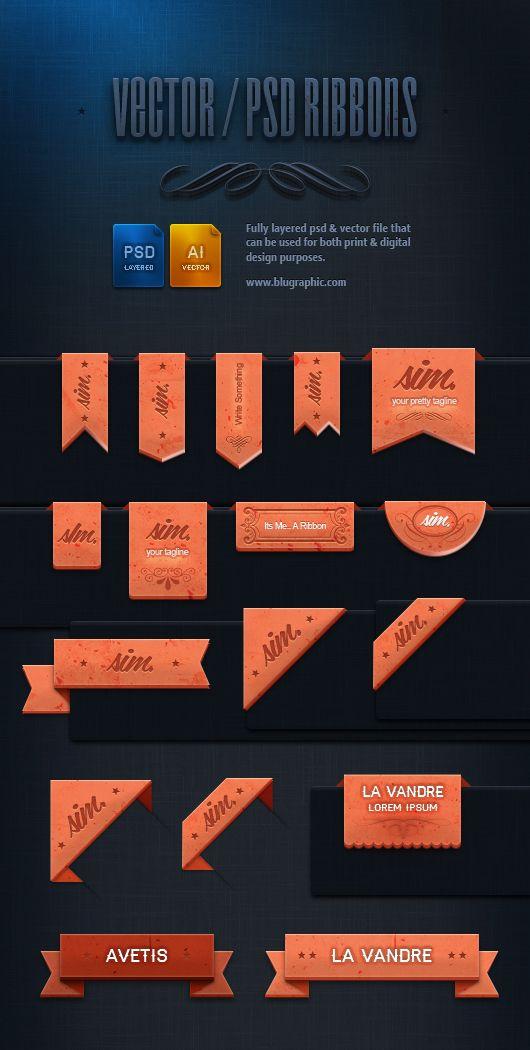 17 Elegant Ribbons Psd Web Design Freebies Design Freebie Web Design